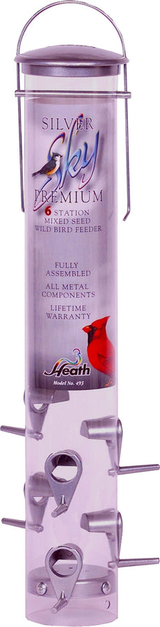 Heath Outdoor Products 493M Silver Sky Mixed Seed Feeder