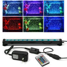 MIYOLE LED Fish Tank Light with 24 Key Controller RGB Color Changing Underwater Multifunction Aquarium Light for Fresh and Saltwater 11.81inch