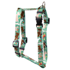 "Yellow Dog Design Woodland Friends Roman Style H Dog Harness- Extra Large 28"" - 36"""