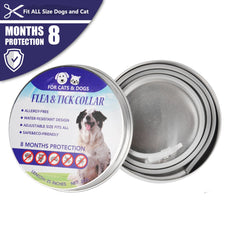 COSYWORLD Flea and Tick Collar - Adjustable & Waterproof Flea and Tick Control Collar for Dog with Natural Essential Oil