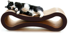 PetFusion Ultimate Cat Scratcher Lounge. [Superior Cardboard & Construction] Walnut Brown