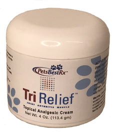TriRelief for Arthritis, Joint Pains in Pets Pain Relief Cream- 4 Oz