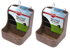 Kaytee Hay n Food Bin Feeder with Quick Locks (2-Pack) (Colors May Vary) Assorted Colors (2 Pack)