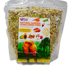 Birds LOVE All Natural Garden Blend Bird Food for Lovebirds, Parakeets, Cockatiels, Conures, Quakers, Cockatoos, Macaws and All Sized Birds 4lb – Sunflwr Free Conure Diet