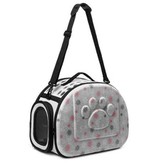 Coraltea EVA Pet Carrier Airline Approved Outdoor Under Seat Travel Puppy Bag-for Pets of Medium Size Cats & Dogs gray