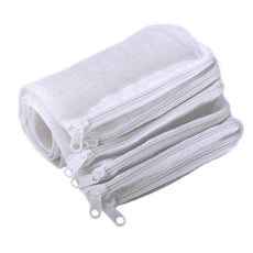 Aquarium Media Bags, 10 Pieces Segarty Nylon Aquarium Filter Media Bags Mesh Media Bags with Plastic Zipper, Fish Tank Net Bags for Pellet Carbon, Bio Balls, Ceramic Rings, Ammonia Remover, White 7.7''x5.9''