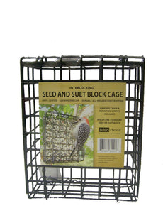 Birds Choice Suet & Seed Block Cage Feeder