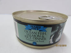 Trader Joe's Ocean Fish, Salmon & Rice Dinner Premium Cat Food 6 Pack