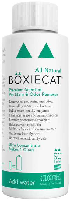 Boxiecat Premium Scented Stain & Odor Remover,Ultra Concentrate 4 oz