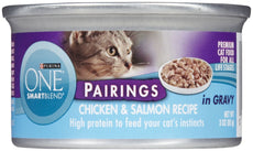 Purina One Pairings Chicken & Salmon Recipe - 24X3Oz