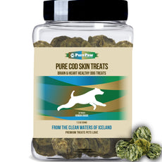 Pure Paw Pure Fish & Lobster Treats, Brain & Heart Healthy Dog Treats Cod Skin Treats