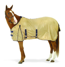 Centaur Softmesh Fly Sheet - Bellyband - Size:69 Color:Tan/Navy
