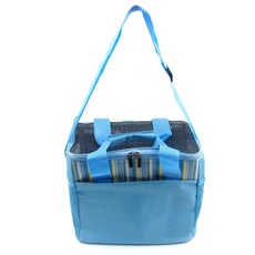 Alfie Pet by Petoga Couture - Jaylen Travel Carrier Vacation House for Small Animals Like Dwarf Hamster and Mouse - Color: Blue