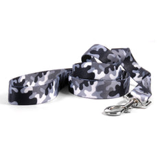 "Yellow Dog Design Black and White Camo Dog Leash 1"" x 60"" (5 feet) Long"