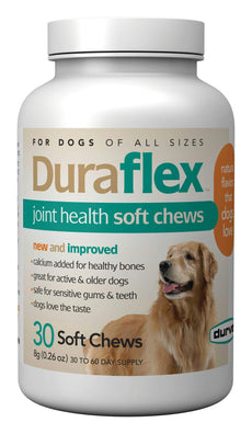 Duraflex Joint Health Soft Chews, 30 Chews, Glucosamine and Vitamin E Supplements for Dogs of All Sizes