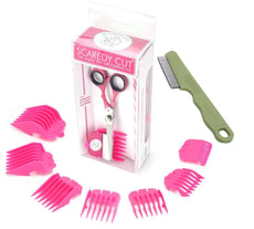 Scaredy Cut Silent Pet Clipper, PINK with Safari Flea Comb