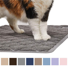 "Gorilla Grip Original Premium Durable Cat Litter Mat, XL Jumbo, No Phthalate, Water Resistant, Traps Litter from Box and Cats, Scatter Control, Mats Soft on Kitty Paws, Easy Clean Mats Gray Extra Large (35"" x 23"")"