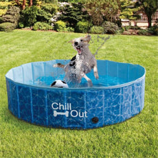 ALL FOR PAWS Outdoor Bathing Dog Pool Portable Pet Bath Tub Blue M
