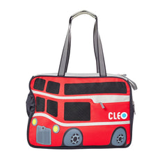 "Cleo By Teafco Petobus Airline Approved (18.25"" Medium) Pet Carrier - Carmine Red/Gray"
