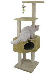 "Armarkat Cat Tree Model A5201, Beige 20""(L)X20""(W)X52""(H)"