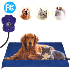 GROWUPER Pet Heating Pad, Electric Heating Pad Indoor Waterproof Adjustable Warming for Dog,Cat,Bird Rabbit Small Animal 19.7x19.7In coffe2