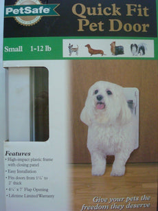 PetSafe Quick-Fit Pet Door, White Small