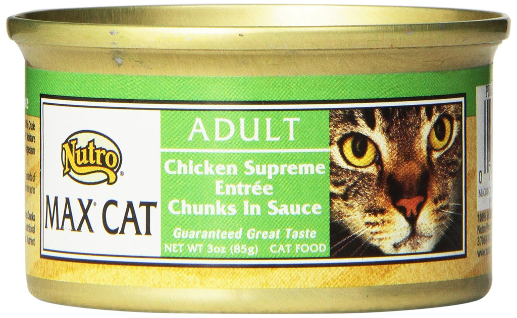 Nutro Max Adult Wet Canned Cat Food Chicken Supreme 3 oz (Pack of 24)