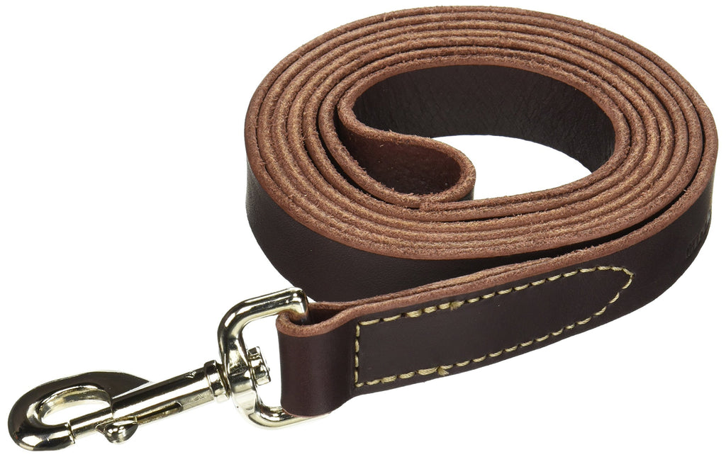 Circle T Leather Latigo Dog Leash 6 foot 1-Inch x 6-Feet