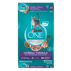 Purina ONE Hairball Formula Adult Dry Cat Food Chicken 22 lb