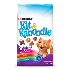Purina Kit & Kaboodle Original Adult Dry Cat Food - Six (6) 3.15 Lb. Bags
