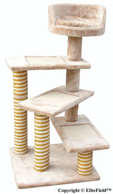 "EliteField Cat Tree, Scratcher Furniture Condo House, Multiple 22""L x 22""W x 40""H"