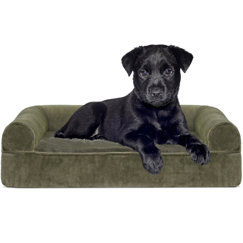 Miraculous Furhaven Pet Dog Bed Orthopedic Sofa Style Couch Pet Bed Bralicious Painted Fabric Chair Ideas Braliciousco