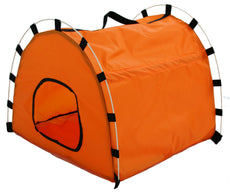 Pet Life Skeletal Outdoor Travel Collapsible Pet House Tent Orange Medium