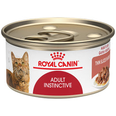 Royal Canin Feline Health Nutrition Adult Instinctive Thin Slice in Gravy Canned cat Food Case of 24