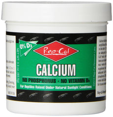 Rep-Cal SRP00220 Phosphorous-Free Calcium Powder Reptile/Amphibian Supplement without Vitamin D3, 3.3-Ounce