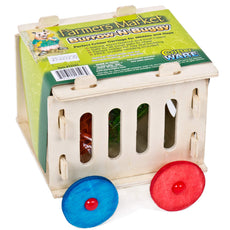 Ware Manufacturing Burrow-N-Buggy Wood Hideout and Treat Holder for Small Animals