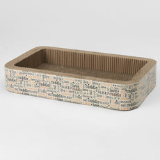 "PetRageous 13081 Ginger Spice Clover 20.87"" x 12.4"" x 3.54"" Rectangular Jerry's Corrugated Cat Scratcher"