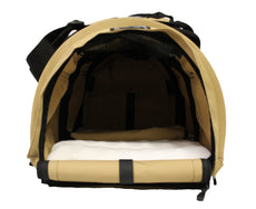 SturdiBag Large Flexible Pet Carrier Divided for 2 Pets Earthy Tan