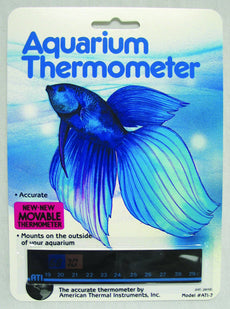 American Thermal Horizontal Aquarium Thermometer 1 Pack