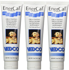 EnerCal High Calorie Nutrition Suppliment For Cats and Dogs 5oz Tube 3 Pack