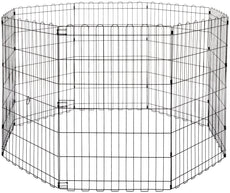 AmazonBasics Foldable Metal Pet Exercise and Playpen Without door 36-inch
