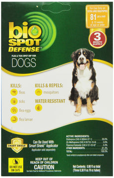 Farnam BioSpot Defense Flea and Tick Spot Refill for Dogs over 81-Pounds