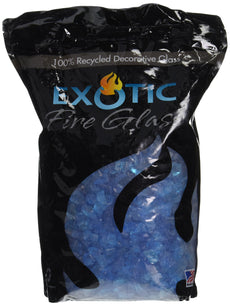 Exotic Pebble & Aggregates 10-Number Bag, Turquoise Glass