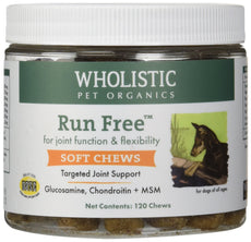 Wholistic Pet Organics 120 Count Run Free Soft Chews Supplement