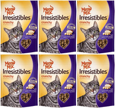 Meow Mix Irresistibles Cat Treats - Crunchy - Chicken - Net Wt. 2.5 OZ (71 g) Each - Pack of 6