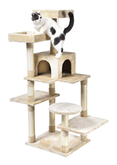 AmazonBasics Multi-Level Cat Tree Beige Multi-Platform