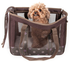 Pet Life Surround View Posh Fashion Pet Carrier Cocoa Brown One Size