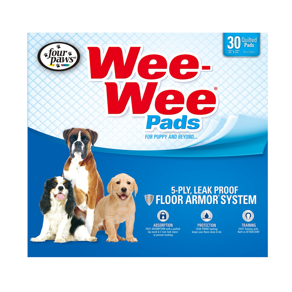 Four Paws Wee-Wee Absorbent Pads for Dogs, 30 count