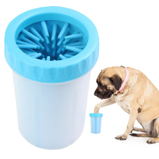 Paw Legend Portable Dog Paw Washer - Pet Paw Cleaner for Dogs,Cats Grooming with Muddy Paws - Comfortable Silicone Dog Feet Cleaner Blue L