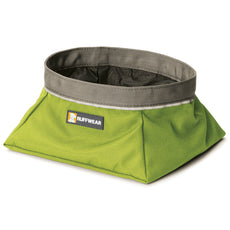 RUFFWEAR - Quencher Waterproof, Collapsible Dog Bowl Forest Green Medium